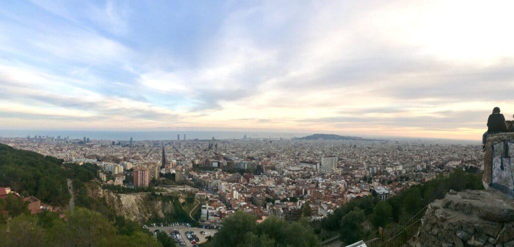 Panorama dai Bunkers del Carmel a Barcellona