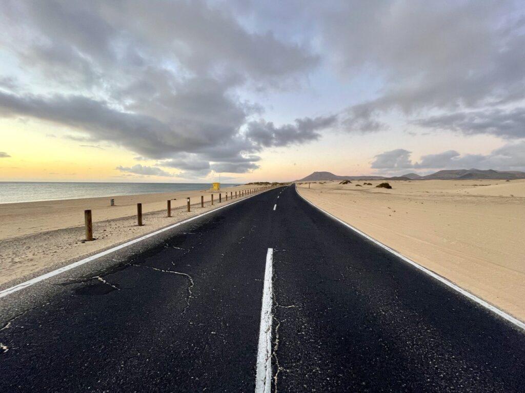 strada delle dune di Corralejo